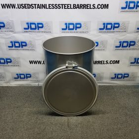 44 gal 304 NEW stainless Open Head Barrel Crevice Free (1.5mm)