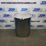 sanitary open top stainless steel drum