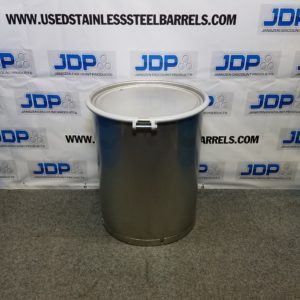 sanitary open top stainless steel drum