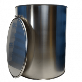 100 Gallon 304 NEW Stainless Steel Open Head Barrel (1.2mm)