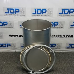 30 gal 304 NEW stainless Open Head Barrel Crevice Free (1.5mm)