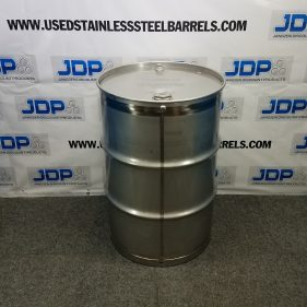 (Nitric Acid) 55 gal 304 NEW stainless Closed Head Barrel Crevice Free (1.5mm)