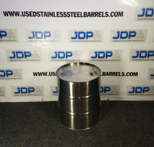 20 gallon stainless steel closed top drum