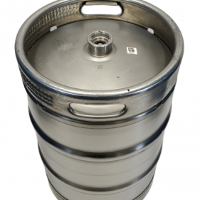 15.5 Gallon USED LIKE NEW Stainless Steel Keg with spear