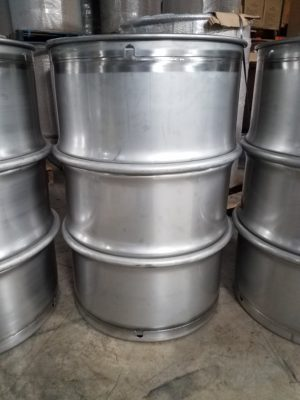 Nitric acid stainless steel drums