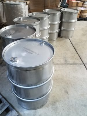 Used Stainless Steel Drums