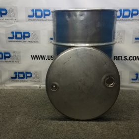 55 gal 304 USED stainless Open Head Barrel (thickness may vary)