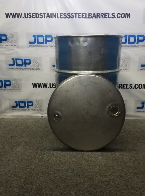 used stainless steel open top drum