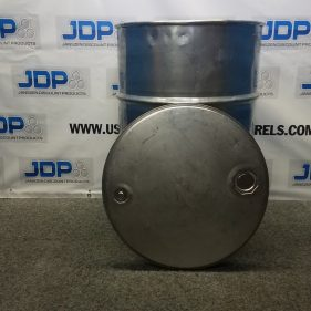 55 gal 304 USED stainless Open Head Barrel (thickness may vary) LID not included