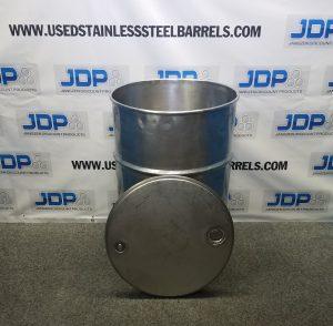 stainless steel open top drum