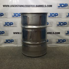 (4 PACK) 55 gal 304 USED LIKE NEW stainless Closed Head Barrel Sanitary Bottom (1.5mm) $315 per