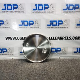 30 Gallon Stainless Steel Drum Lid with Bungs