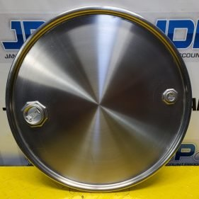 55 Gallon Stainless Steel Drum Lid with Bung Holes