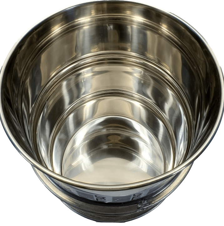 Used 55 gallon open top stainless steel barrel