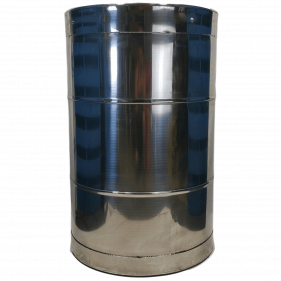 55 Gallon 304 USED Stainless Steel Closed Head Barrel Sanitary Bottom (1.5mm)